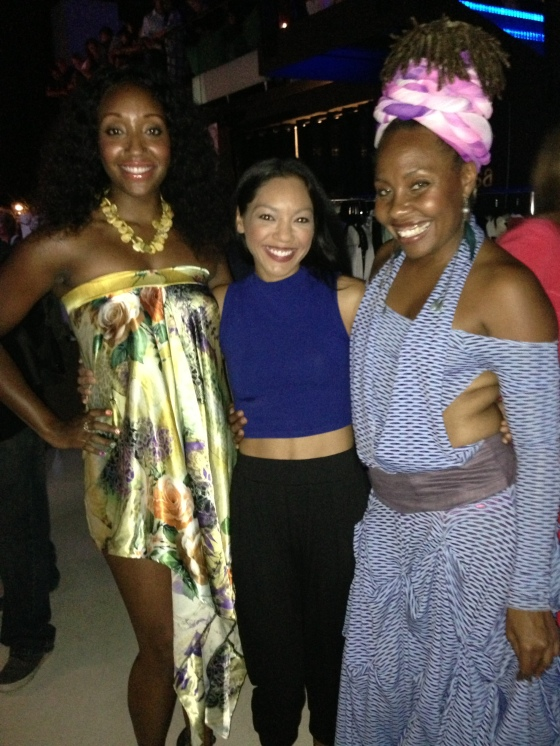 Ja'ire designers- sisters, Ja'ire and Nekia Hattley with Jadapa