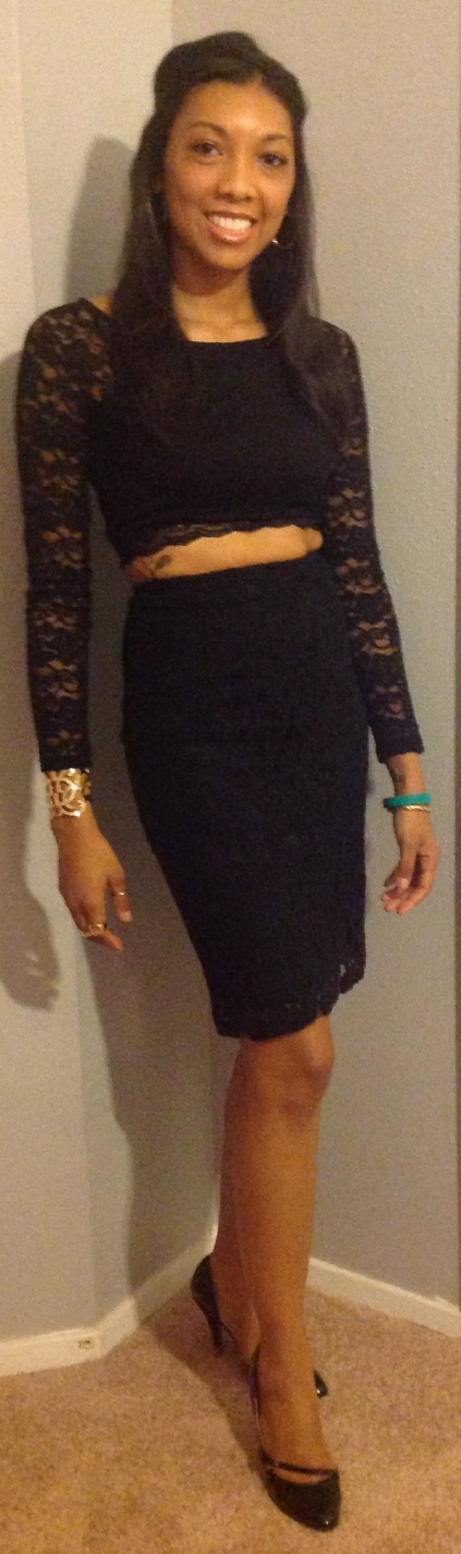 Top and skirt: express, Shoes: Sheik, Accessories: Forever 21, H&M, Foreign Exchange