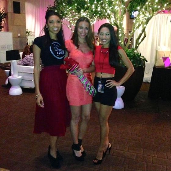 With Dolcessa swimwear designer, Katya Leonio