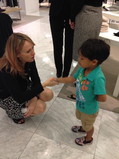 Rebecca Taylor with my nephew, Jadan