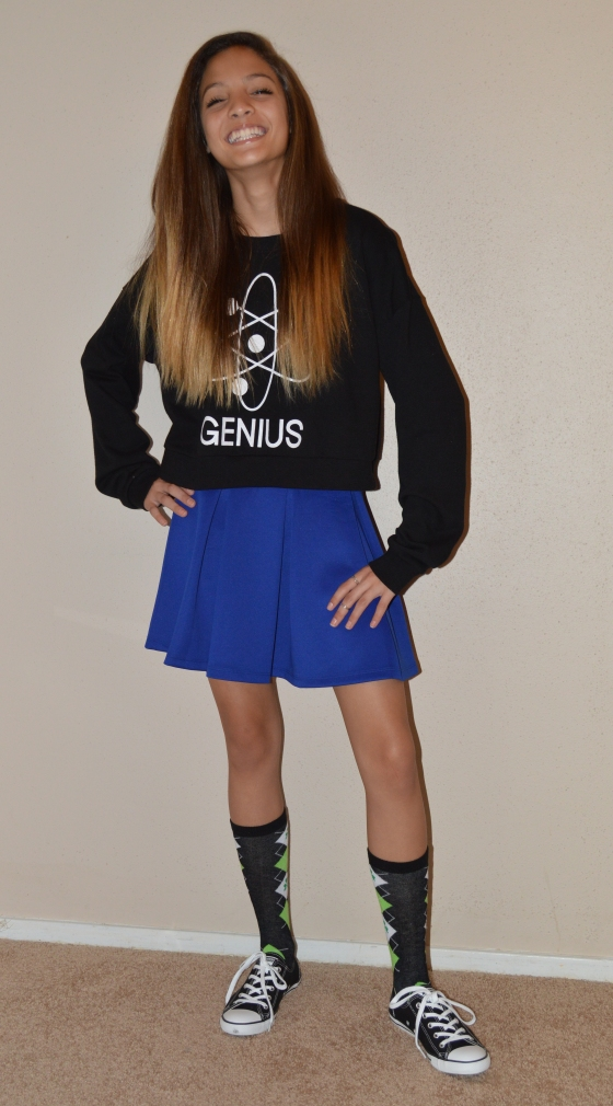 top & skirt- Forever 21, socks - Claire's, shoes - Converse