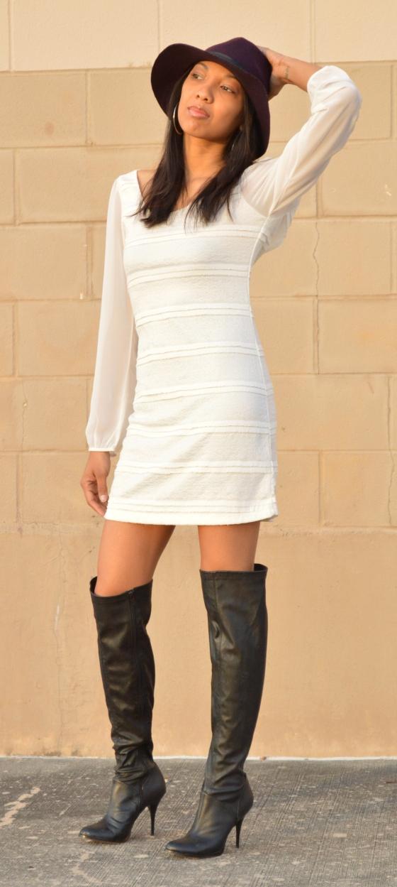 hat- Target, dress- GB, boots- Nordstrom Rack