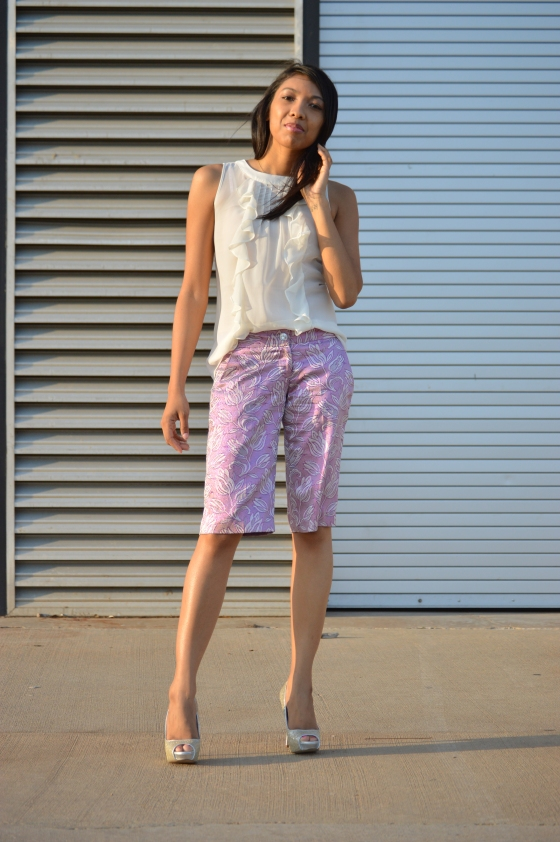 top- JCPenney, shorts (old)- Guess by Marciano, heels- Aldo