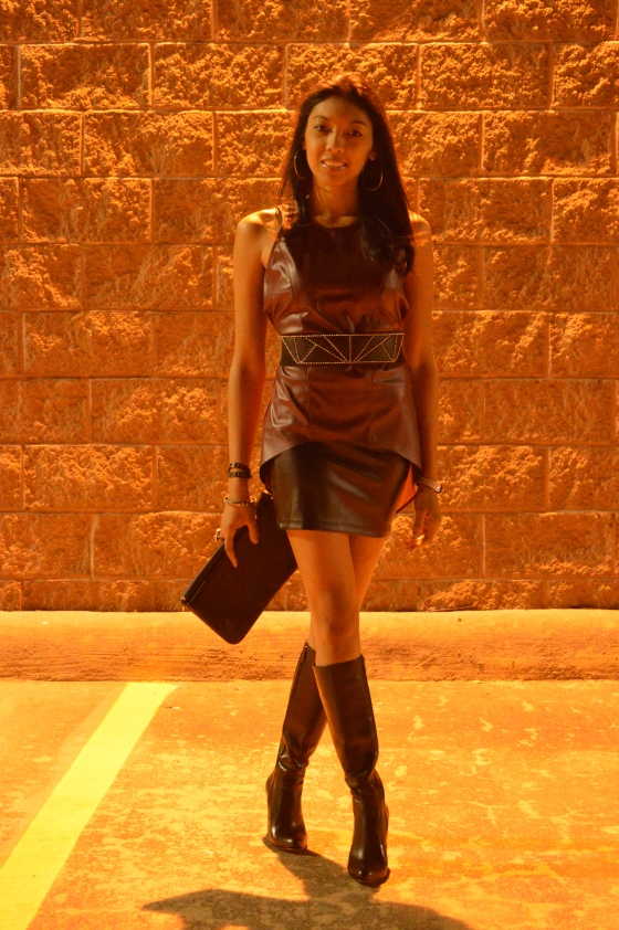 top - Nordstrom Rack, skirt -   DIVAZ Boutique, boots c/o - DUO, clutch - Tory Burch, accessories - Icing, belt - H & M